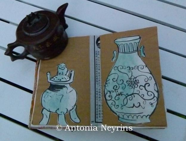 carnet de voyage stage antonia neyrins Asie Paris workshop atelier dessin croquis carnets