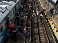 Pantauan Mudik Lebaran di Stasiun Kereta Api Kotabumi Sudah Terlihat Mulai Padat Pemudik