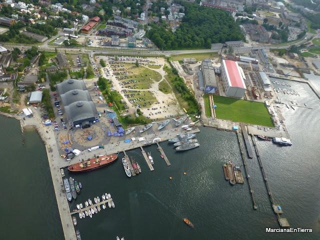 Museo Seaplane Harbour Lennusadam desde el aire en Tallin