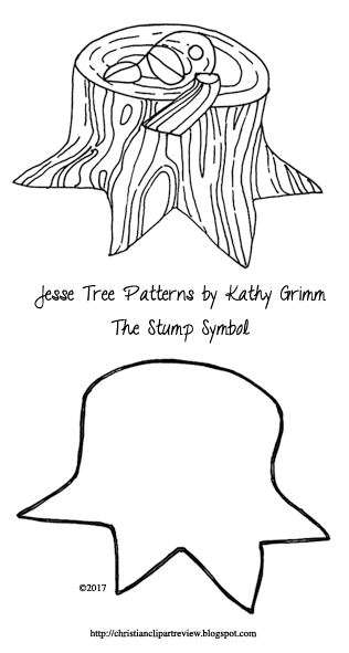 Jesse tree ornament the stump or the root christian for Jesse tree ornament templates