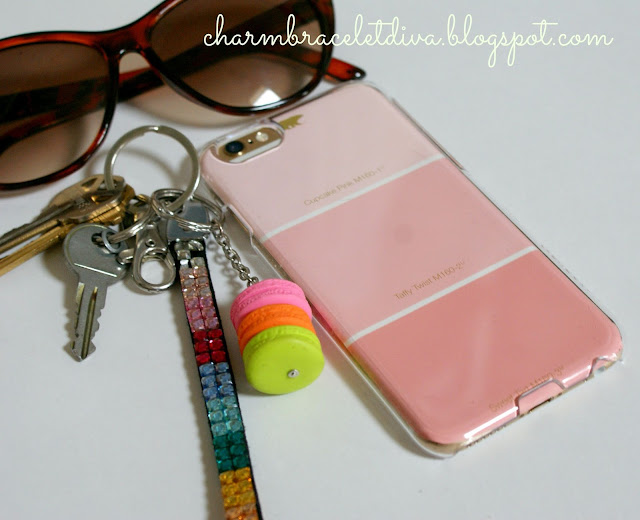 DIY iphone case decorating with paint chips