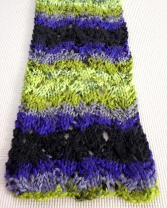 The Createry Shop Knitted Scarf Branches Pattern In Dragonfly