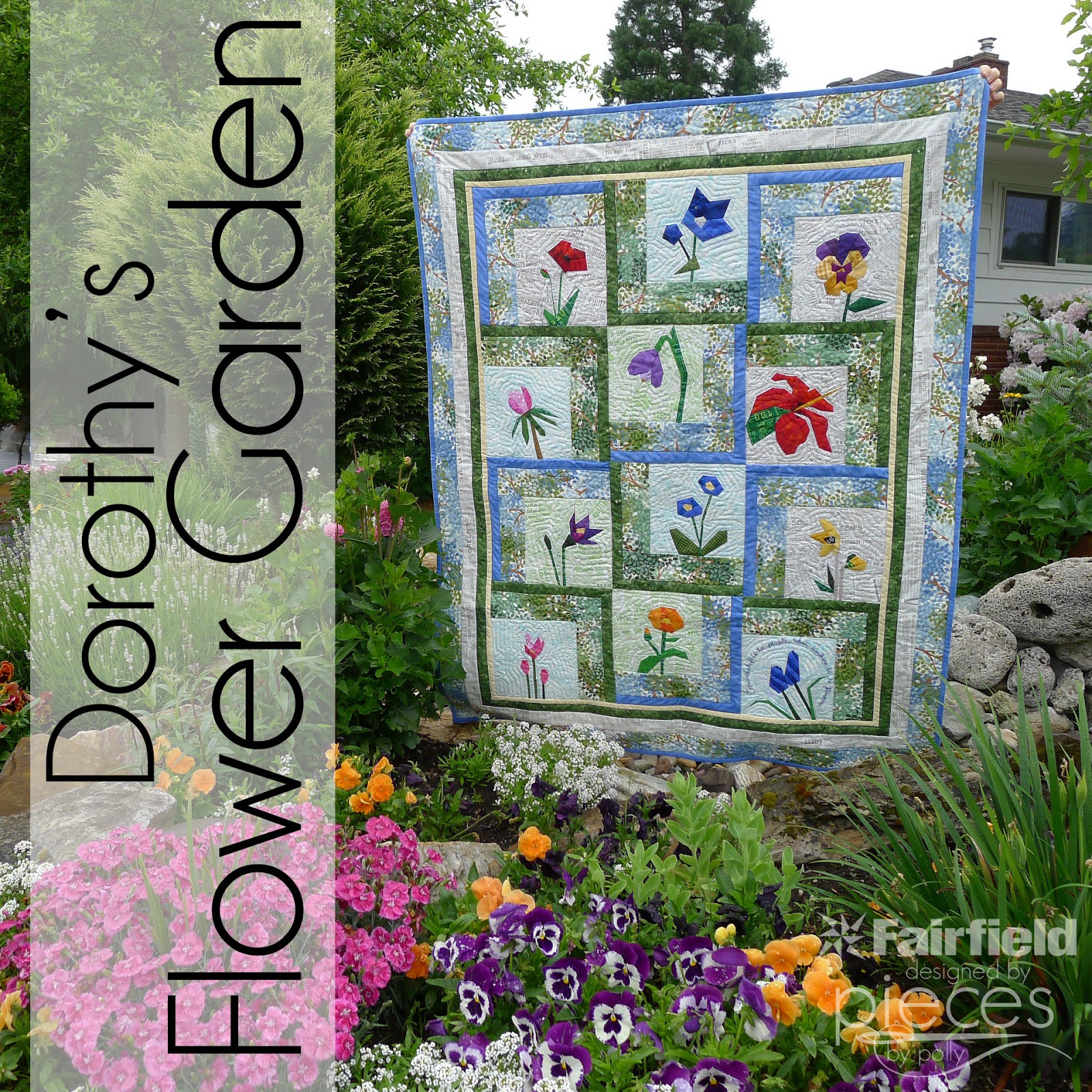 Pieces By Polly Layout And Pattern For Dorothys Flower Garden Quilt