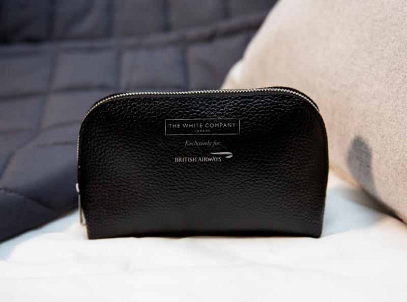 british airways the white company new amenity kit