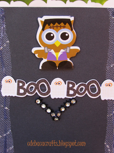 Happy Halloween handmade card by CdeBaca Crafts.