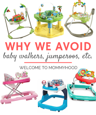 Why we don't jumparoos and similar baby products by Welcome to Mommyhood #babies, #babydevelopment, #baby