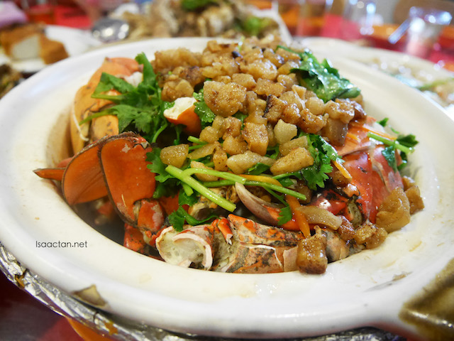 Baked Crab with Pork Cracklings