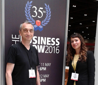 Adie and Anna-Christina at The Business Show 2016 at ExCel London image