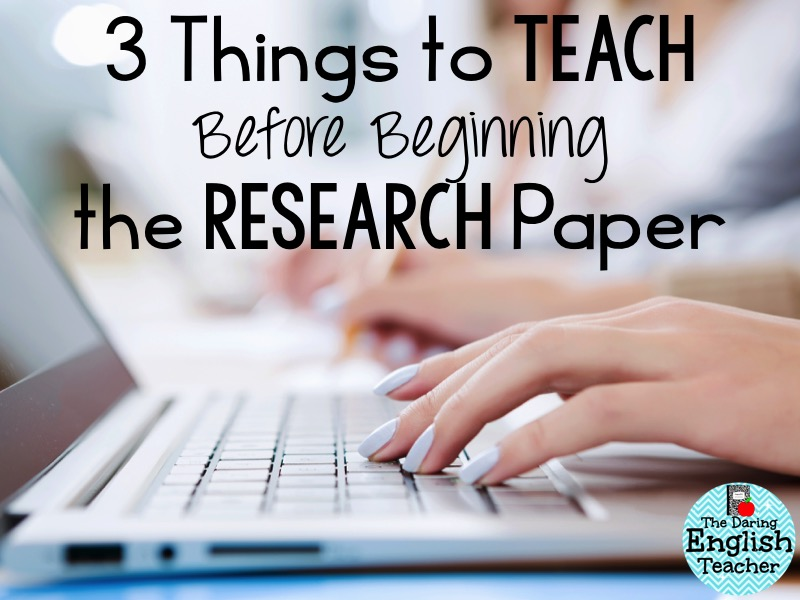 how to teach research paper writing