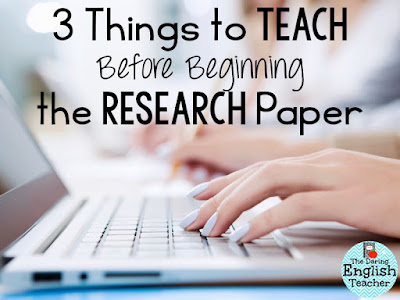 Teaching the research paper. High school writing tips for teachers.