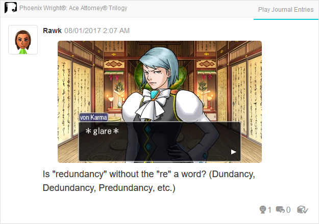Phoenix Wright Ace Attorney Trials and Tribulations Franziska glare