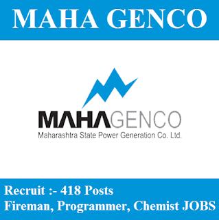 Maharashtra State Power Generation Company Limited, MAHAGENCO, Maharashtra, 10th, Fireman, Programmer, Chemist, freejobalert, Sarkari Naukri, Latest Jobs, mahagenco logo