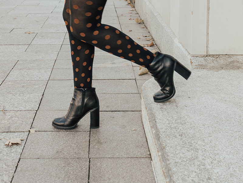 chunky heeled boots, ankle boots, black boots