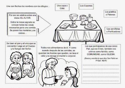 Resultado de imagen para Pasatiempos de Eucaristía