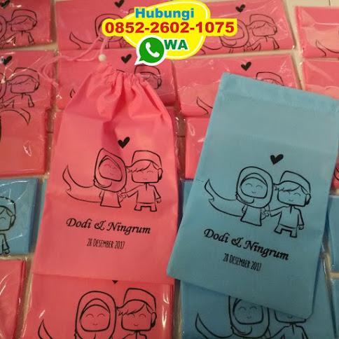 jual souvenir pernikahan kantong spunbond harga murah 51686