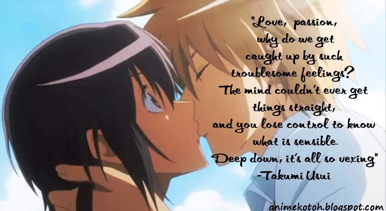 Anime Top  Love Quotes