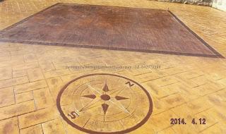 Hormigón impreso para pavimentar terrazas