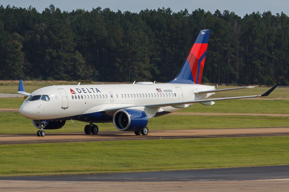 Delta Air Lines Airbus A220-100 N101DU Taxiing Runway