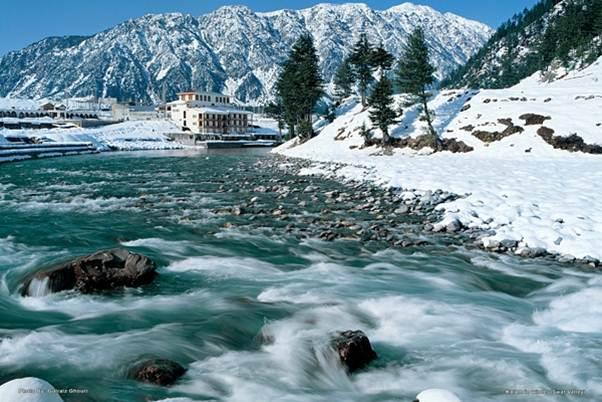Snow-fall in Kalam, Swat Valley, Pakistan