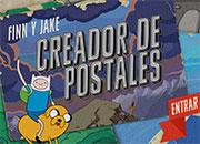 Hora de aventura; Crea tu postal