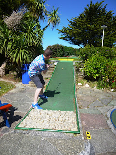 Crazy Golf at Gilmores Golf in Newquay, Cornwall