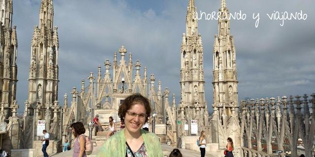 terrazas del Duomo de Milán, Italia