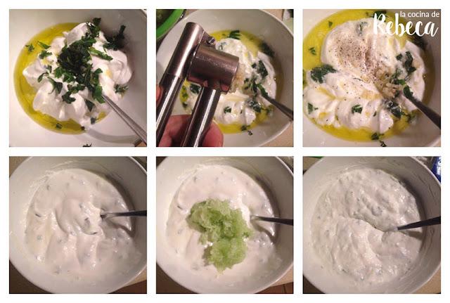 Receta de tzatziki (salsa de yogur y pepino) 02