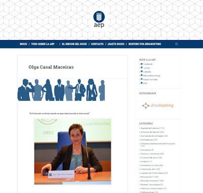 Entrevista a Olga Casal. Asociación Española de Protocolo. AEP