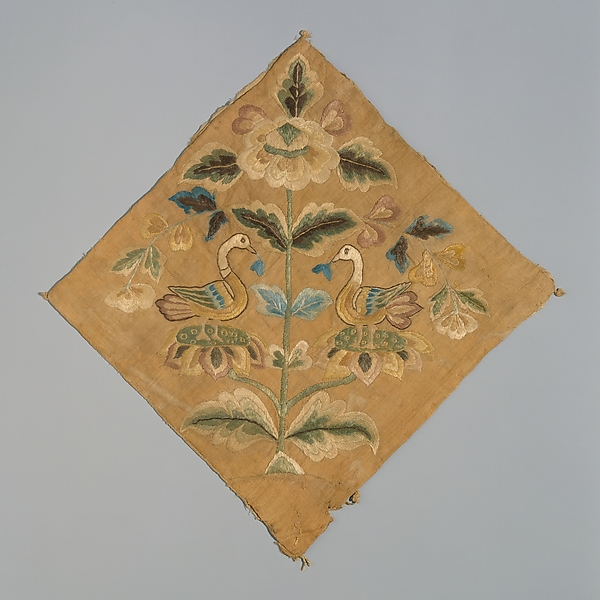 Tang dynasty ealry 8th century embroidery