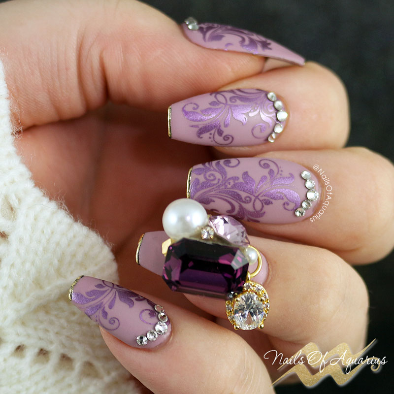 Purple Passion: Stamped Nail Art Design | Nails of ...