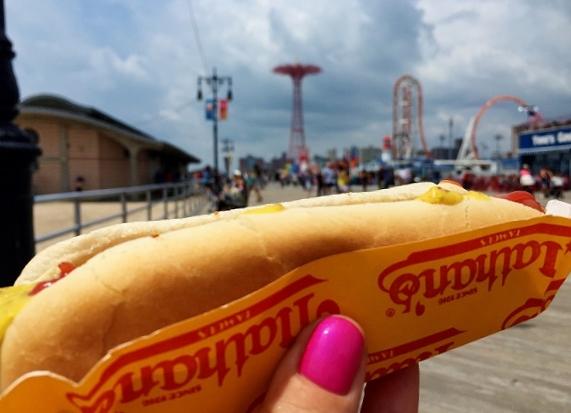 Nathan's hot dog Coney Island