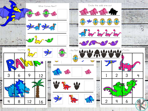Dinosaur Math Worksheets