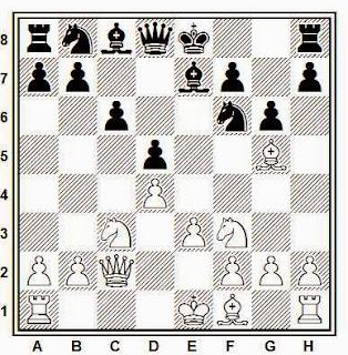 Partida de ajedrez Giacomo Vallifuoco - Bela Toth, 1979, posición después de 8.e3