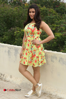 Actress Mannara Chopra Pictures in Floral Short Dress at Jakkanna Movie Interview  0150