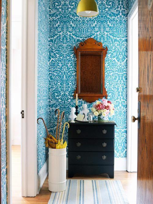 estas son slo algunas de las cosas que el papel pintado puede aadir de forma instantnea a tu recibidor si estabas pensando en arriesgar con algn color