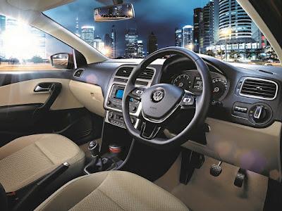 Volkswagen Ameo cabin space front row