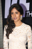 Chandini Chowdary in white Tight dress at Shamanthakamani pre release function ~  Exclusive 056.JPG
