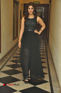 Actress Surabhi Stills in Black Long Dress at turodu Audio Launch  0085.JPG