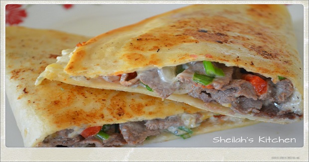 Roasted Pepper And Boursin Steak Quesadillas Recipe