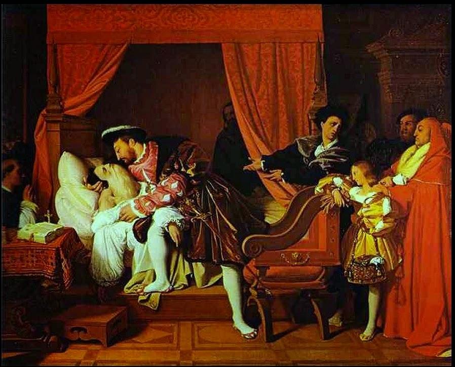 Ingres, La morte di Leonardo da Vinci