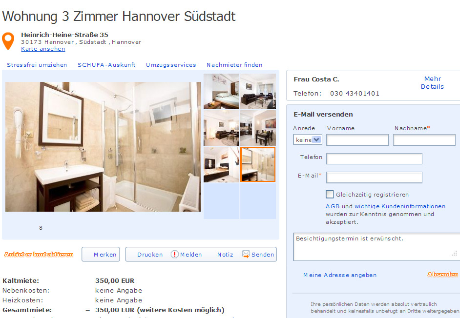 for Zimmer hannover