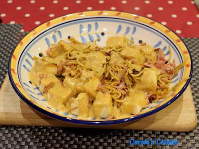 Carole's Chatter: Ham & Tofu Noodles - Japanese Style