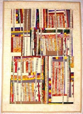 summer aspen mini quilt free form
