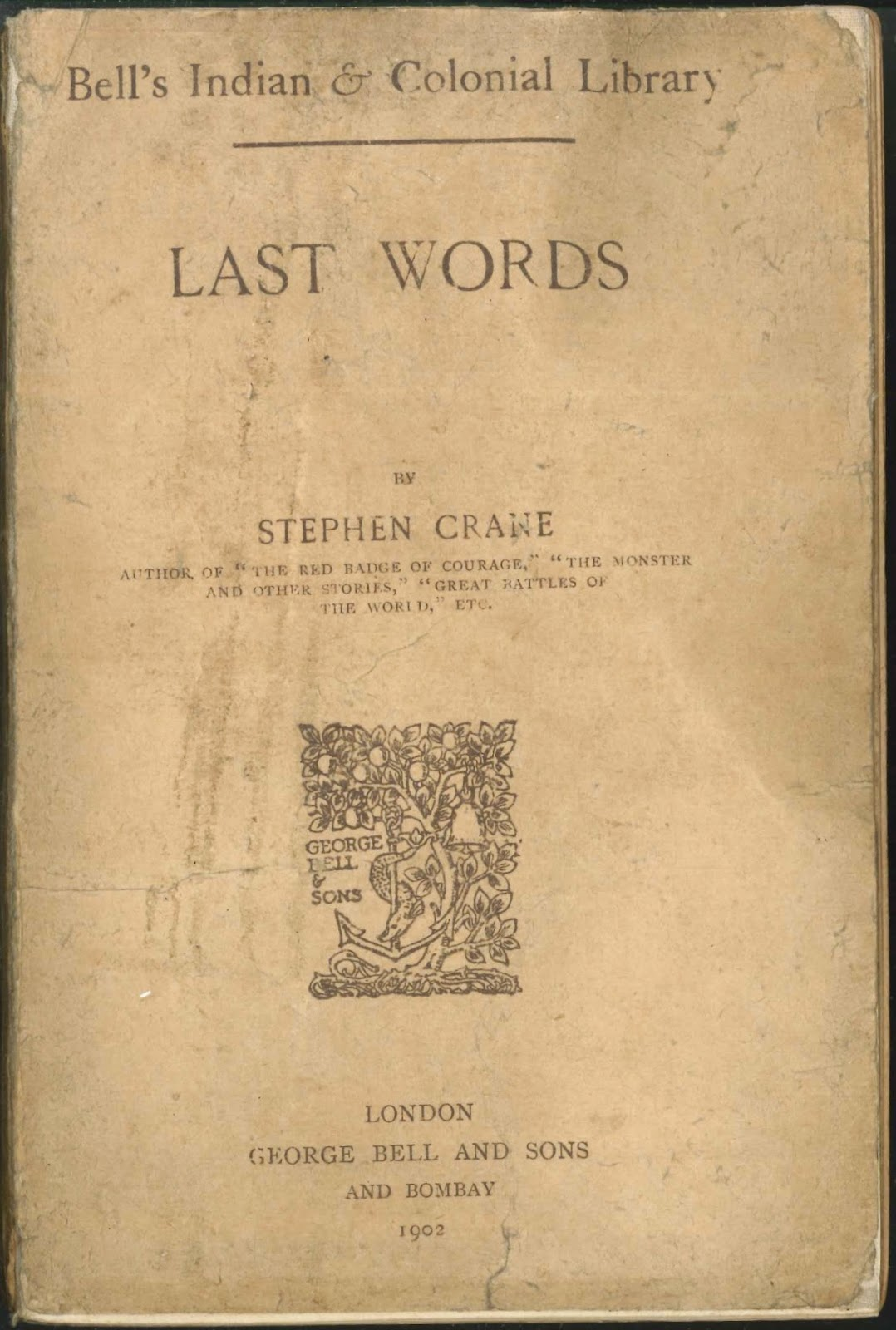 "A title page for ""Last Words."""