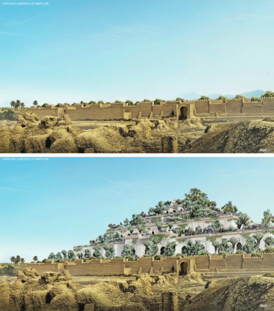 Maravilhas do Mundo na Atualidade - Jardins da Babilonia