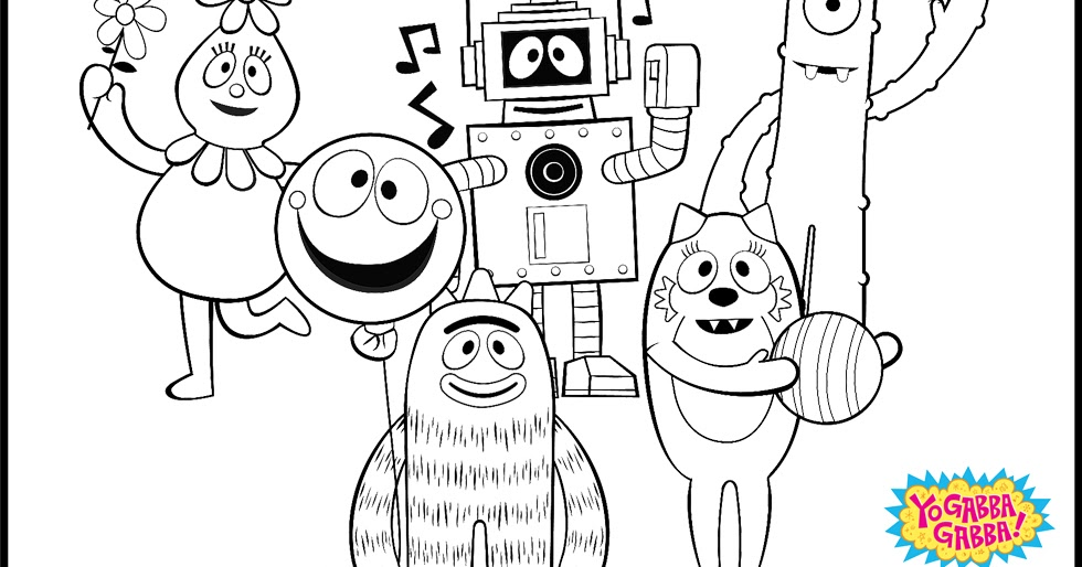 yo gabba coloring pages - yo gabba gabba coloring pages minister coloring