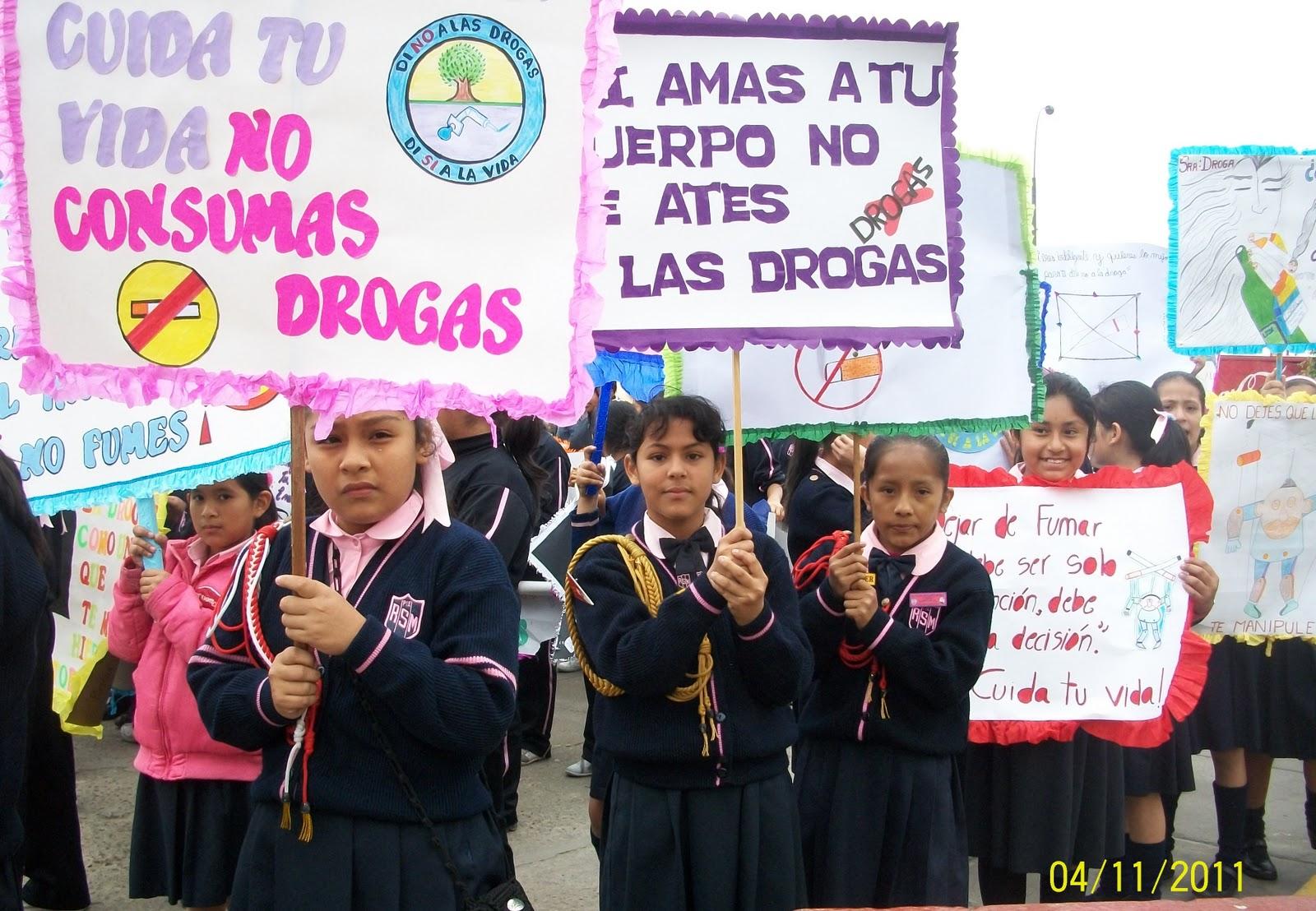 Miss Sonia Concurso De Pancartas Quot Dile No A Las Drogas Quot