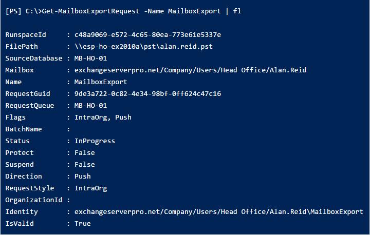 Export Exchange 2010 Mailbox to PST Using PowerShell