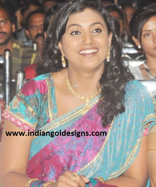 Roja In Designer Diamond Necklace Set At Mogudu Movie