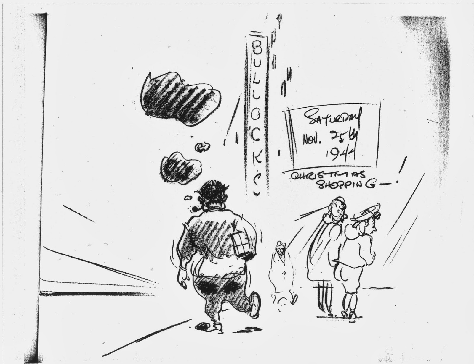 Filboid Studge: Irv Spence's Cartoon Diary: November 25, 1944